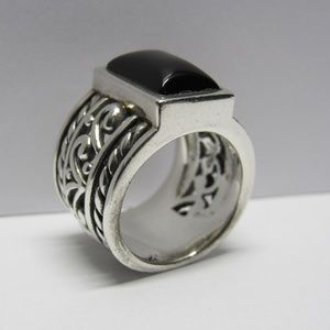 RETIRED Silpada 925 Onyx Ring